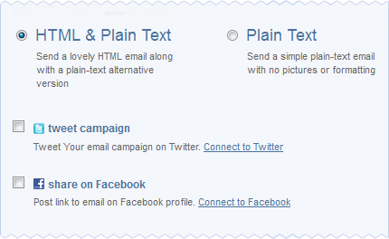 Automatically notify your Twitter and Facebook followers about new campaigns