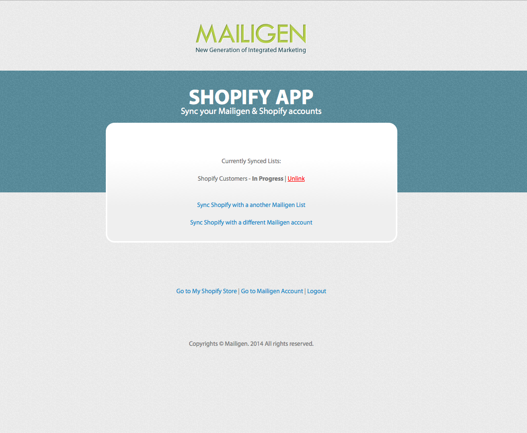 Shopify-Mailigen-integration-syncing